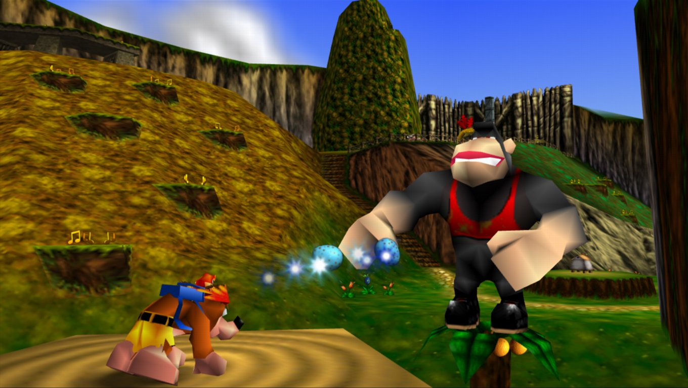 how to walk with kazooie on project 64