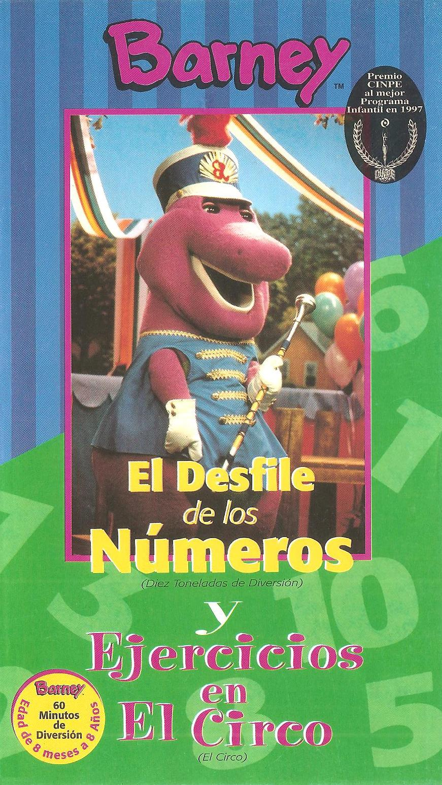 barney u0027s exercise circus barney u0027s parade of numbers barney