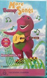 More Barney Songs 2000 Australian VHS