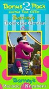 Barney's Excerise Circus & Parade of Numbers 1996 VHS Cover