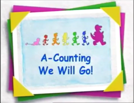Barney & Friends Episode Title Card - A-Counting We Will Go!