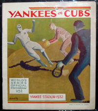 1932 World Series Program