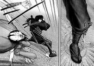 Yashamaru using the Kokujou from his legs