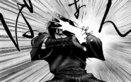 Yashamaru attacked by Shougen glue-spit