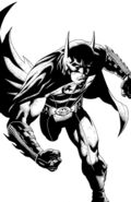 Batman The Dark Knight-1 Cover-2 Black and White Teaser