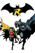 Batman Dick Grayson and Robin Damian Wayne