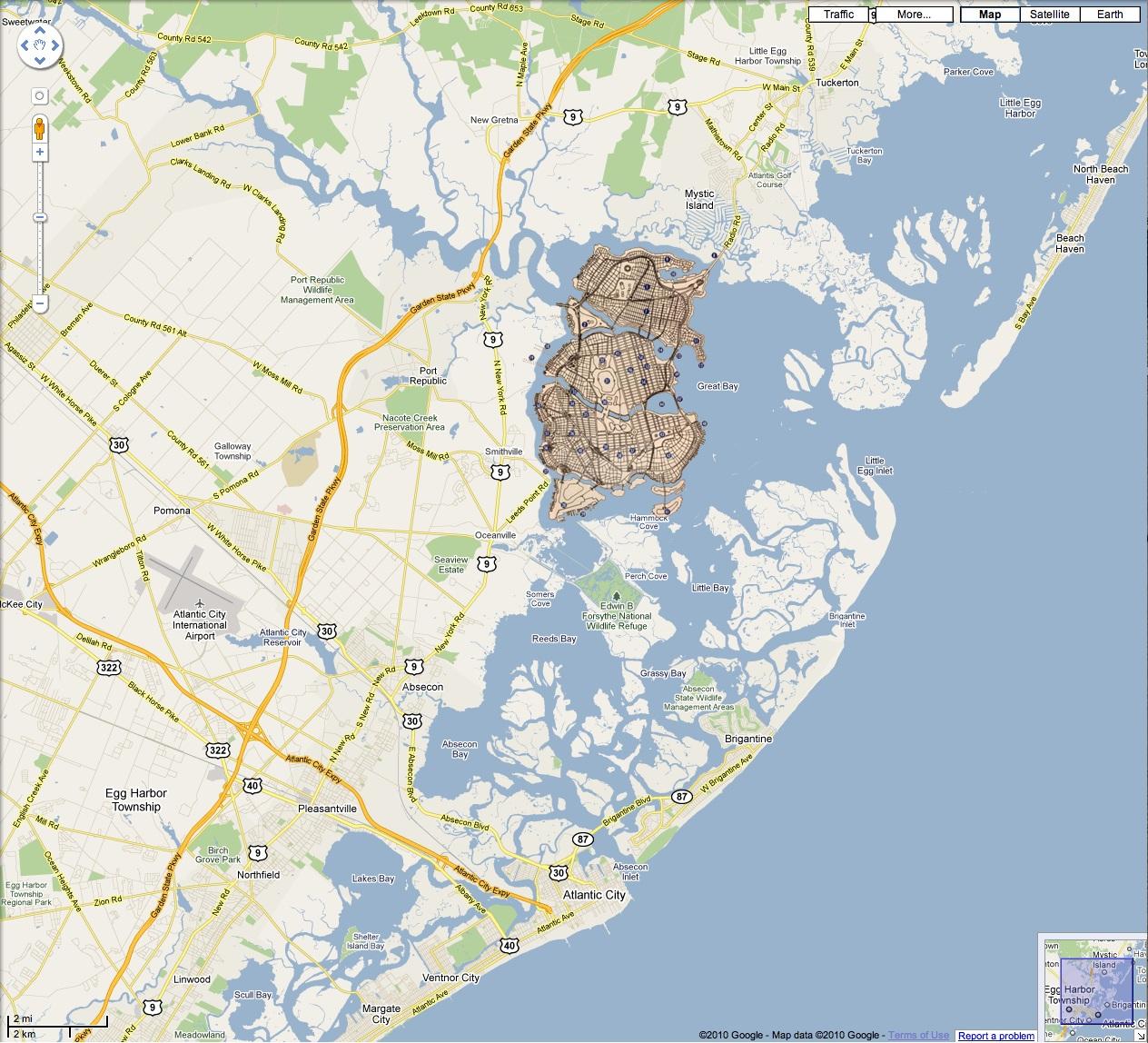 Gotham City Map Fictional Map of Gotham City