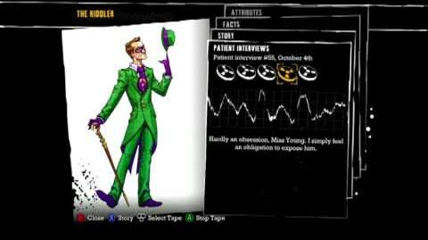 Batman Arkham Asylum - Patient Interview Tapes - The Riddler-0