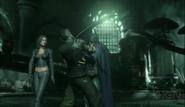 Batman vs the head of the demon