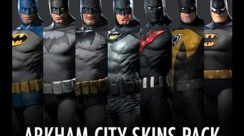 video batman skins pack batman arkham city dlc