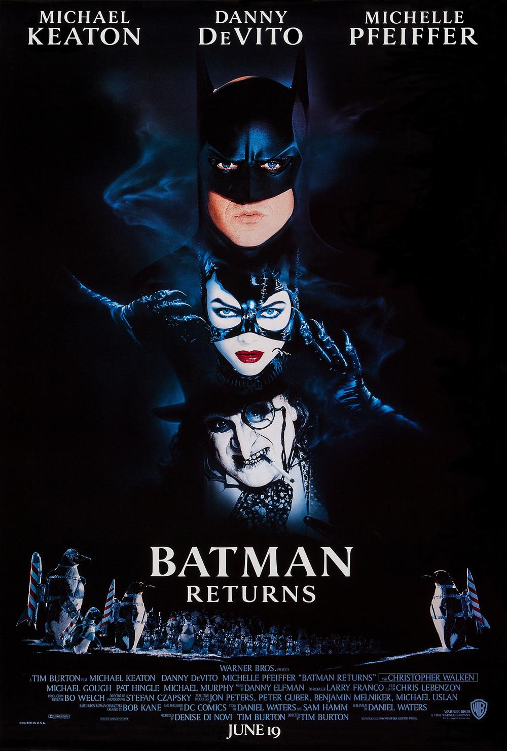 Resultado de imagen para Batman Returns (1989) movie poster official