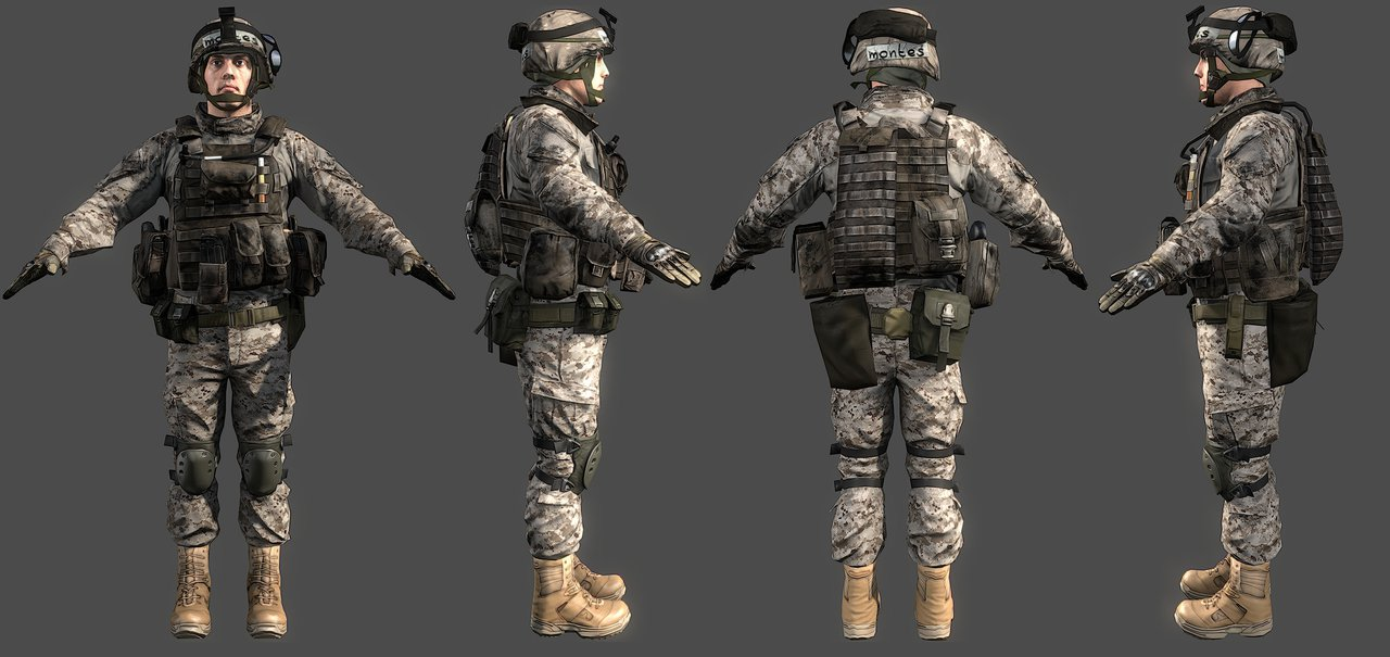 3D Max Модели Солдаты