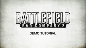 Battlefield Bad Company 2 Demo Tutorial Trailer Screenshot