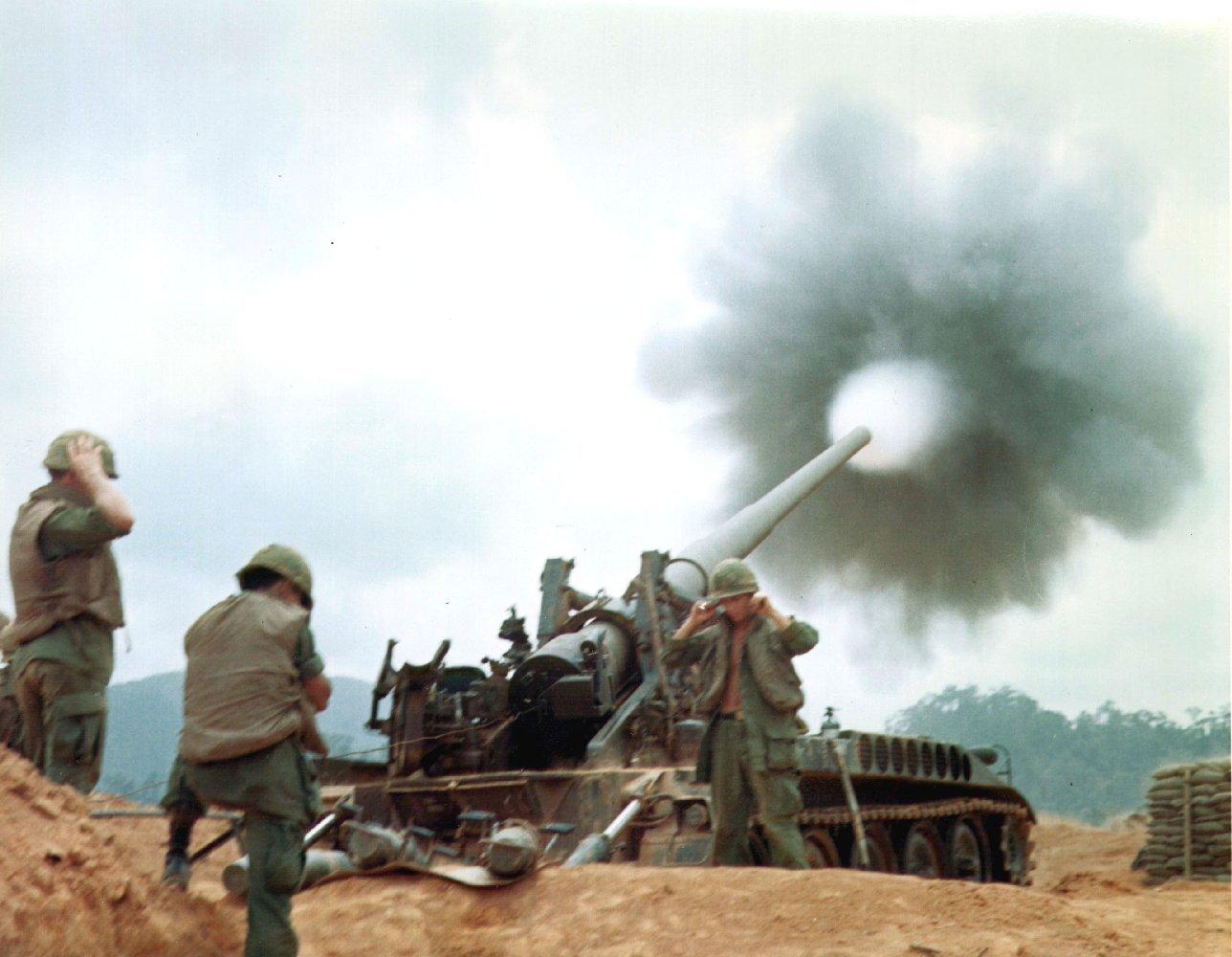 M107 Firing Vietnam 2  M110 Howitzer Firing