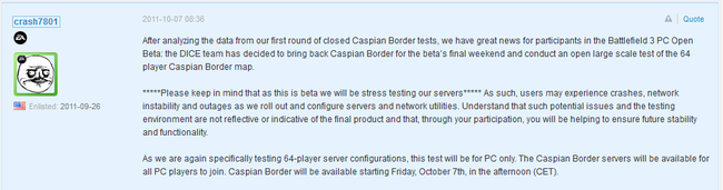 Caspian Border Open Beta Confirmation