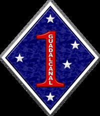 1st Marine Division Insignia