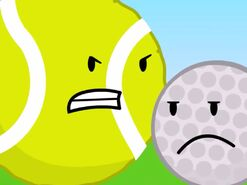 Tennis ball and Golfball