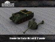Crusader Gun Tractor & 17-pounder render 2