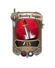 Melee 2 CARD HERO BLEEDING DAGGER