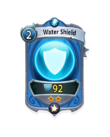 Magic 1 CARD HERO WATER SHIELD MIN