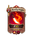 Melee 2 CARD HERO BURNING DAGGER