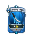 Melee 0 CARD HERO WATER DAGGER