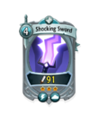 Melee 2 CARD HERO SHOCKING SWORD