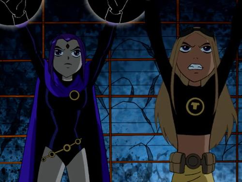 Teen starfire and titans terra raven