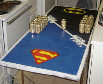 SupermanBatmanBeerPongTable