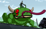 Mutant frog ov