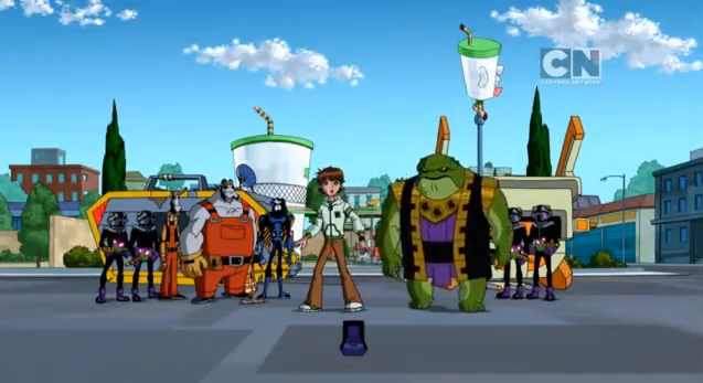 File:Ben, Rook, Vreedle Brothers, Argit, Milleous, Incursions and Argit after recreating the universe using Alien X after the explosion of the Anihilaarg.png