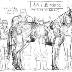 A height comparison of a younger Rickert alongside the other youthful members of the <a href=