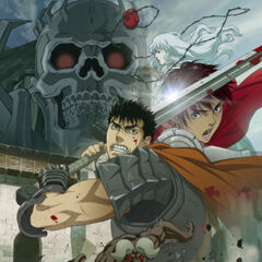 Promotional poster featuring Guts ready to battle for the first film of the trilogy - Golden Age Arc I: Egg of the Supreme Ruler.