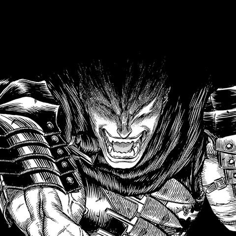 The Beast nearly forcing Guts to kill Casca.