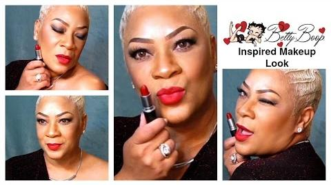 Betty Boop Inspired Makeup Tutorial featuring M.A.C. Betty Boop Red Matte Lipstick