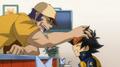 Benkei rubbing Zero's hair