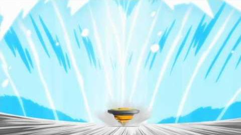 Metal Fight Beyblade - Wind Aquario Finishing Spin Move 1 Infinity Wave