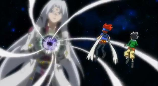 Image - Masamune and Gingka face Faust.png | Beyblade Wiki ...