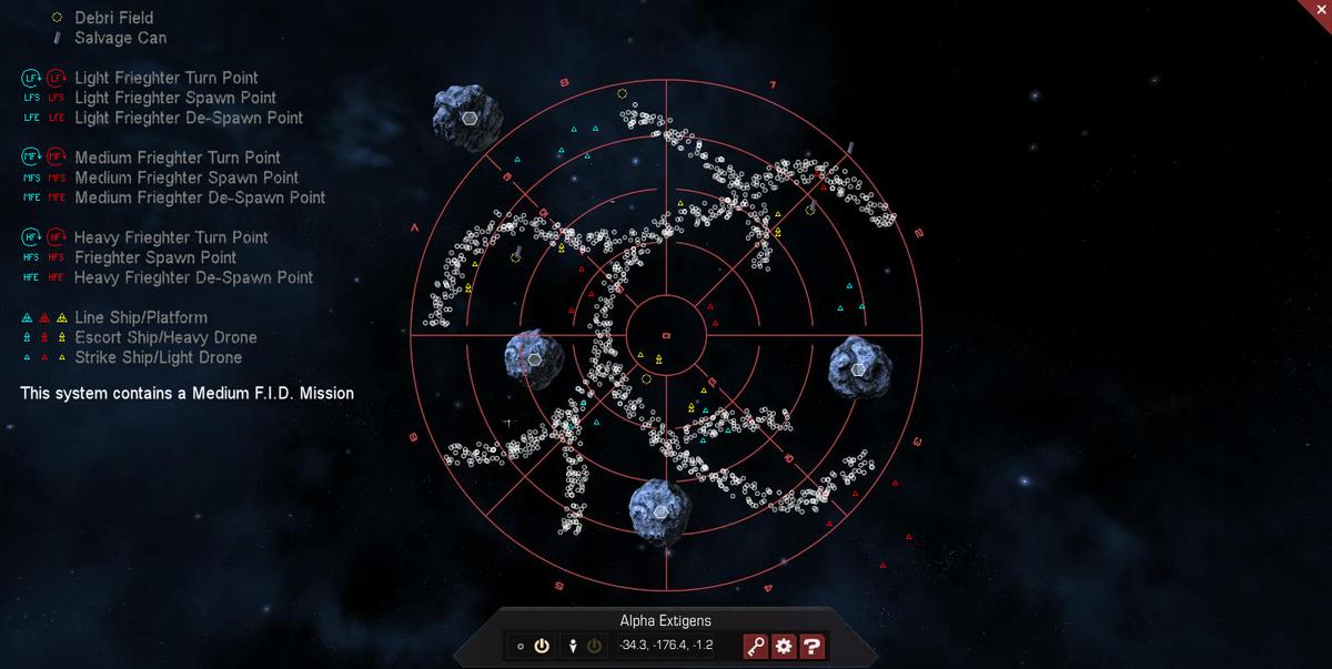 Alpha Extigens 3D System Map
