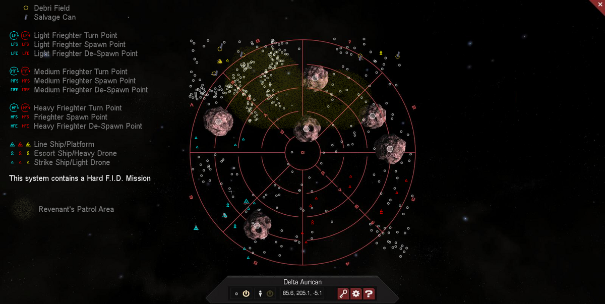 Delta Aurican 3D System Map