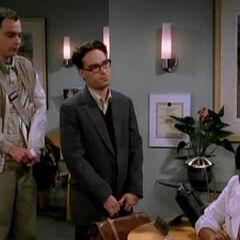Sheldon and Leonard at the sperm center.
