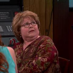 Natalie's grandmother, Grace. Sheldon's second choice.