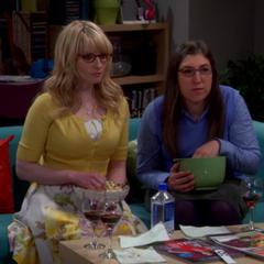 Amy and Bernadette watching