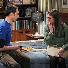 Sheldon getting intimate with Amy through D&D.