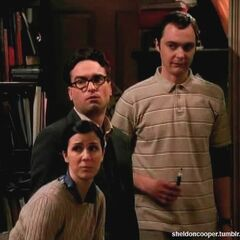 Gilda, Sheldon and Leonard.