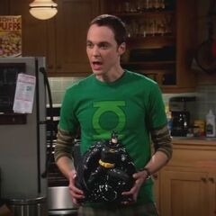 Sheldon and his new Batjar.