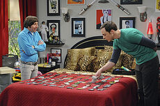 Sheldon with Howard in his room