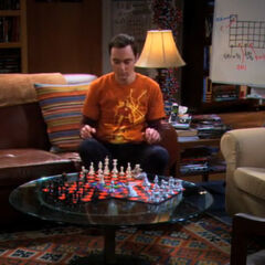 Sheldon inventing three person chess.