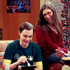 Sheldon and Amy enjoying time together.