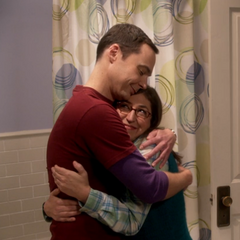 Amy and Sheldon finally happy.